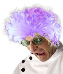 purple hair mad scientist